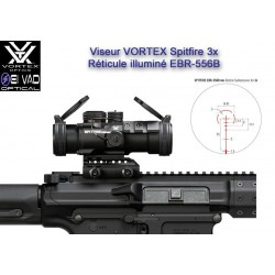 Viseur VORTEX Spitfire 3X - Prism Scope pour M4, AR15