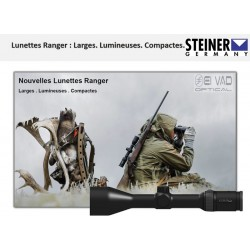 Lunette STEINER 4-16x56 Gamme Ranger - Réticule illuminé 4A