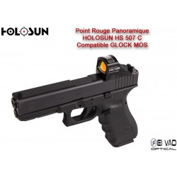 Point Rouge Panoramique HOLOSUN HS 507 C - Glock MOS