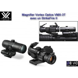 Pack VORTEX Point Rouge StrikeFire II + Magnifier VMX-3T