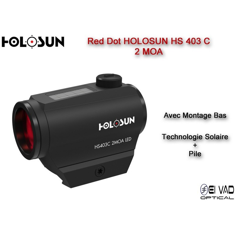 Point Rouge HOLOSUN HS 403 C - Technologie solaire - Version Chasse