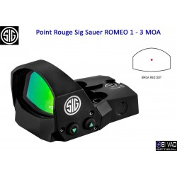 Point Rouge Sig Sauer Romeo 1 - 3 MOA (sans embase)