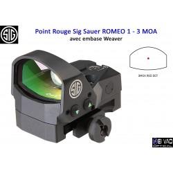 Point Rouge Sig Sauer Romeo 1 - 3 MOA (avec embase Weaver)