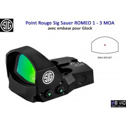 Point Rouge Sig Sauer Romeo 1 pour Glock Standard - 3 MOA