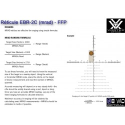 Lunette VORTEX DiamondBack Tactical 6-24x50 FFP - Réticule EBR-2C