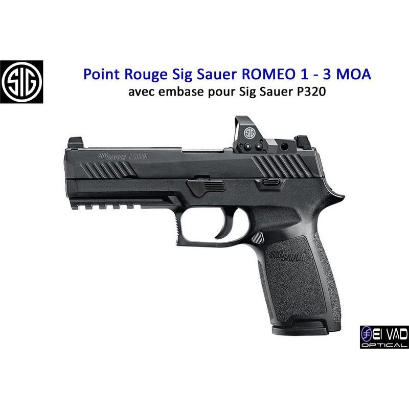 Point Rouge Sig Sauer Romeo 1 pour Sig Sauer P320 - 3 MOA