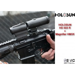 Pack Holosun - Point Rouge HS 503 R + Magnifier HM3X