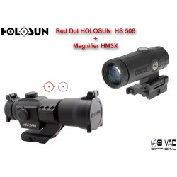 Pack Holosun 2 - Point Rouge HS 506 + Magnifier HM3X