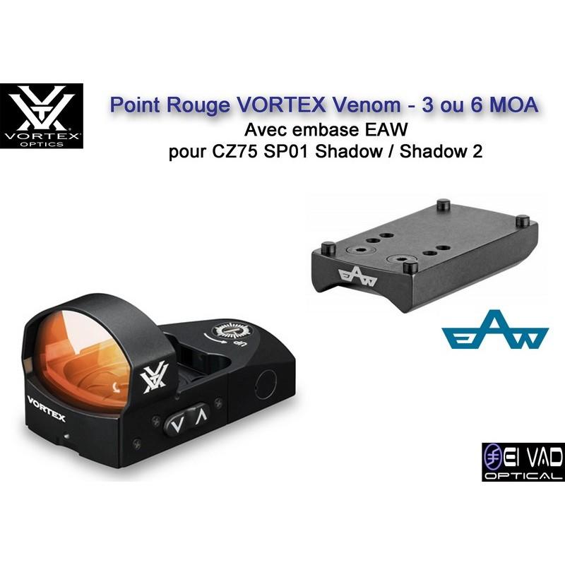 Point Rouge VORTEX Venom - avec embase CZ 75 Shadow