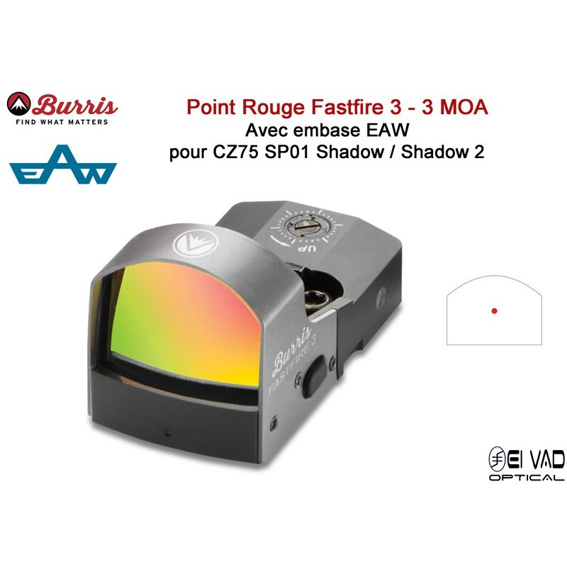 BURRIS -  Point rouge FastFire 3 avec embase pour CZ 75 Shadow