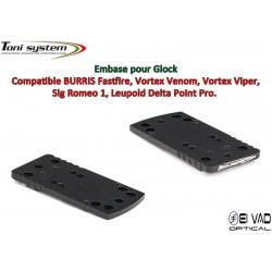 Embase TS pour Glock - Compatible Fastfire 3, Vortex Venom, Sig Romeo 1