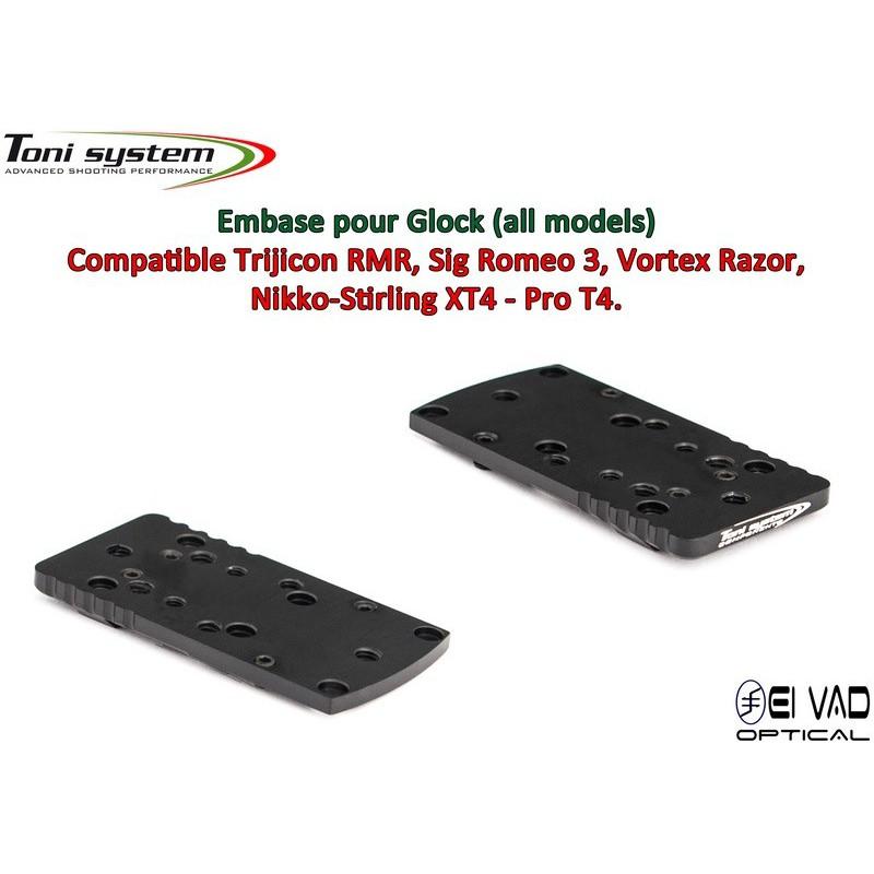 Embase TS pour Glock - Compatible Trijicon RMR, Vortex Razor, Holosun 507C