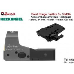 Point Rouge BURRIS FastFire 3 avec embase amovible Recknagel Weaver