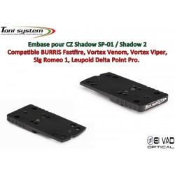 Embase TS pour CZ 75 Shadow - Compatible Fastfire 3, Vortex Venom, Sig Romeo 1