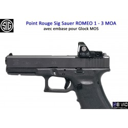 Point Rouge Sig Sauer Romeo 1 pour Glock MOS - 3 MOA