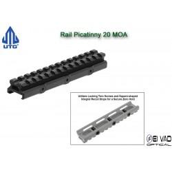 UTG - Rail Picatinny réhausseur 20 MOA