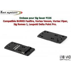 Embase TS pour Sig Sauer P226 - Compatible Fastfire 3, Vortex Venom, Sig Romeo 1