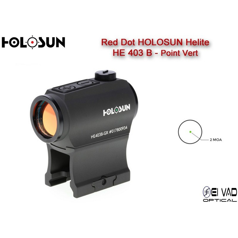 Point Rouge HOLOSUN Helite HE 403 B - 2 MOA (vert)