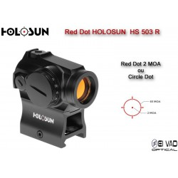 Point Rouge HOLOSUN HS 503 R - Point 2 MOA ou Cercle 65 MOA