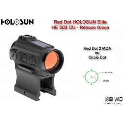 Point Rouge HOLOSUN Elite HE503CU-GR - Circle Dot Vert