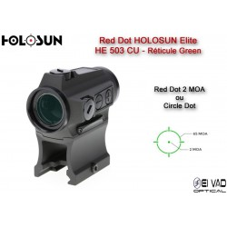 Point Rouge HOLOSUN Elite HE503CU-GR - Circle Dot Vert