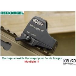Montage Amovible ERA RECKNAGEL pour Rail Weaver - BURRIS Fastfire, DocterSight et MeoSight