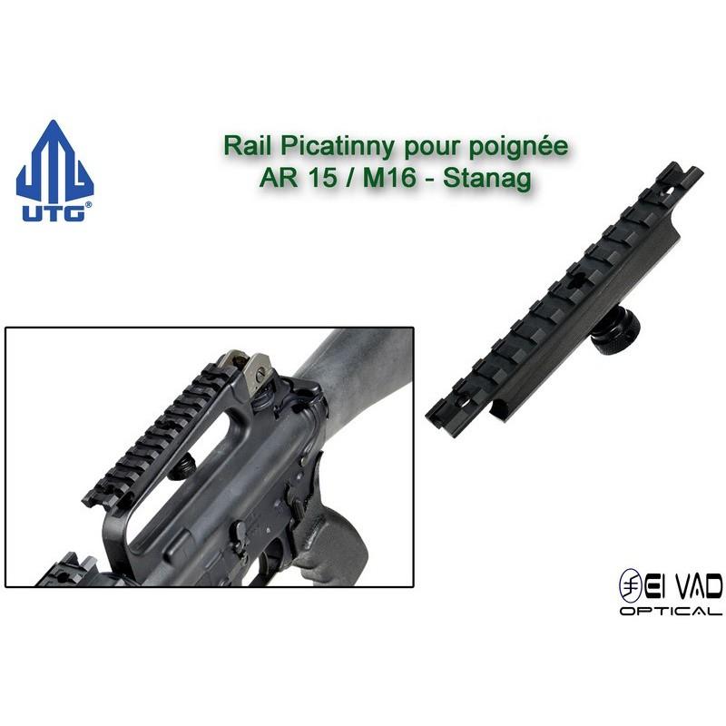UTG - Rail Picatinny pour poignée AR15 / M16