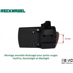 Montage Amovible ERA RECKNAGEL pour rail de 11mm - BURRIS Fastfire, DocterSight et MeoSight