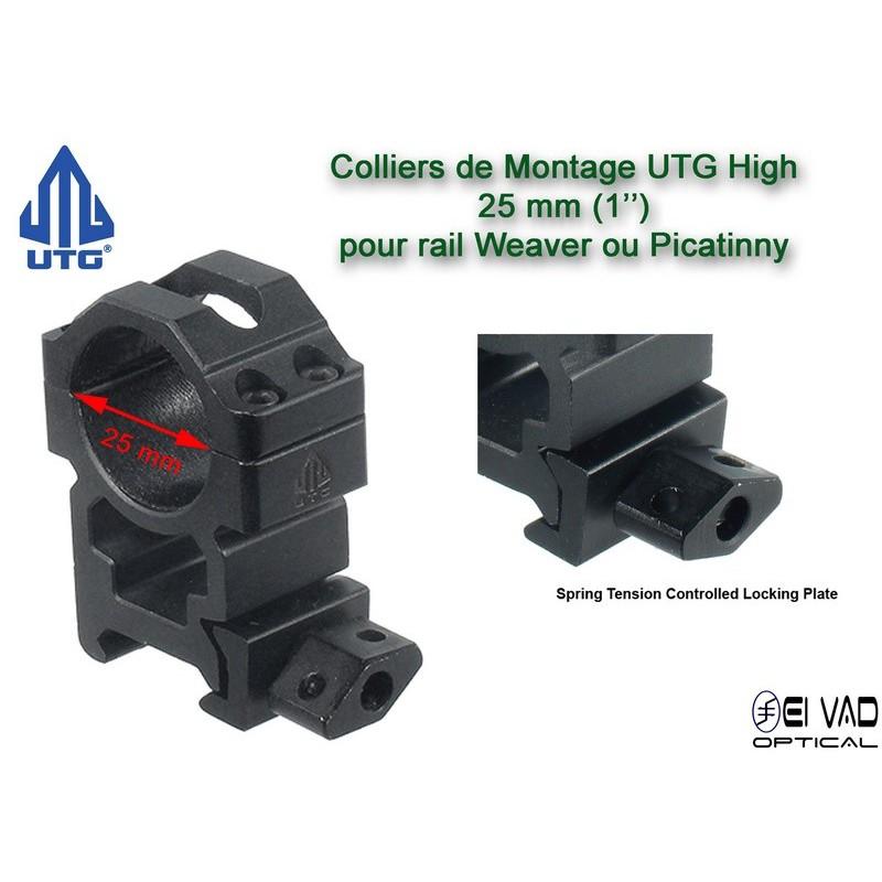 Colliers de montage UTG High  - 25 mm pour rail de 21 mm