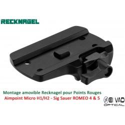 Montage Amovible ERA RECKNAGEL pour Rail Weaver - Aimpoint Micro H1/H2
