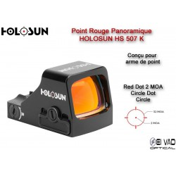 Point Rouge Panoramique HOLOSUN HS507K - 2 MOA - Arme de point