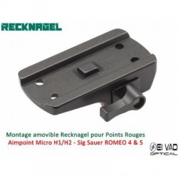 Montage Amovible ERA RECKNAGEL pour Rail de 11 mm - Aimpoint, Sig Sauer et Holosun
