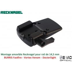 Montage Amovible ERA RECKNAGEL pour rail de 14,5 mm - BURRIS Fastfire, DocterSight et MeoSight