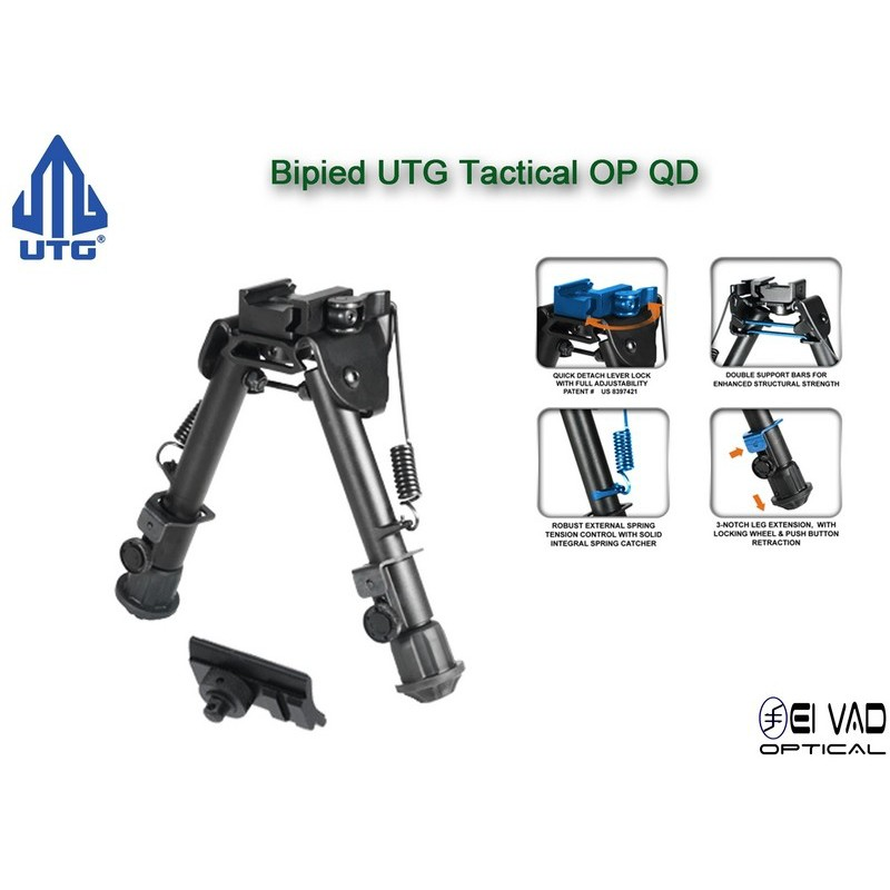 Bipied UTG Tactical QD pour rail picatinny ou grenadière