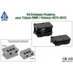 UTG - Kit Embases pour Trijicon RMR - Holosun 407C & 507C
