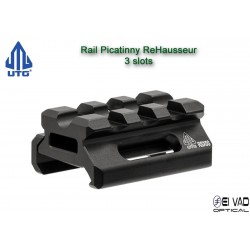 UTG - Rail Picatinny Réhausseur pour point rouge - 0,5 inch