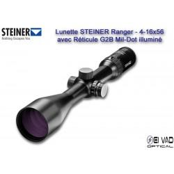 Lunette STEINER 4-16x56 Gamme Ranger - Réticule G2B Mil-Dot