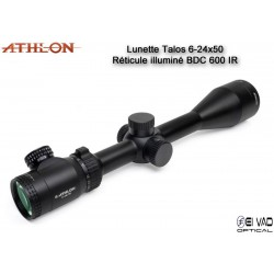 Lunette ATHLON Talos 6-24x50 - Réticule BDC 600 IR