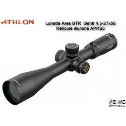 Lunette ATHLON ARES BTR GEN2 HD 4,5-27x50 - Réticule APRS5