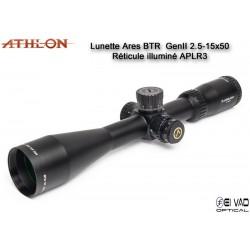 Lunette ATHLON ARES BTR GEN2 HD 2,5-15x50 - Réticule APLR3