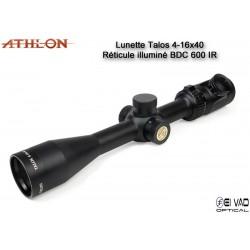 Lunette ATHLON Talos 4-16x40 - Réticule BDC 600 IR
