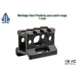 UTG - Montage Picatinny Haut pour point rouge - 1 inch