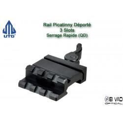 UTG - Rail Picatinny déporté pour Point Rouge, lampe, laser