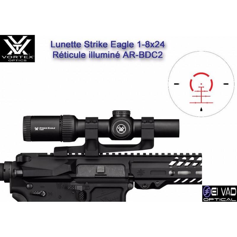 Lunette VORTEX Strike Eagle 1-8x24 - Réticule AR-BDC2