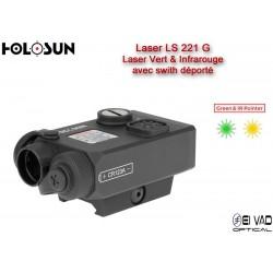 Laser HOLOSUN Coaxial Vert & Infra-Rouge LS221G