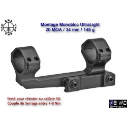 Montage Monobloc ERA-TAC UltraLight 34 mm - 20 MOA