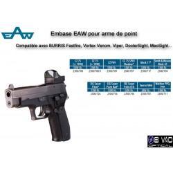 Embase EAW pour arme de point - Compatible BURRIS fastfire, Vortex Venom-Viper