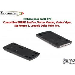 Embase TS pour Canik TP9 Version A - Compatible Fastfire 3, Vortex Venom, Sig Romeo 1