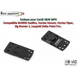 Embase TS pour S&W MP9 Version A - Compatible Fastfire 3, Vortex Venom, Sig Romeo 1