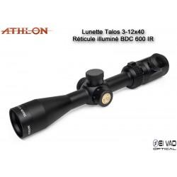 Lunette ATHLON Talos 3-12x40 - Réticule BDC 600 IR